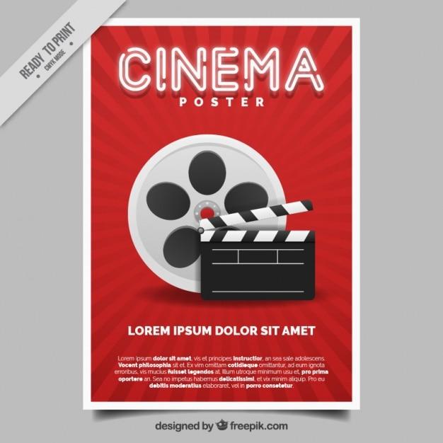 Affiche De Film Vecteur gratuit