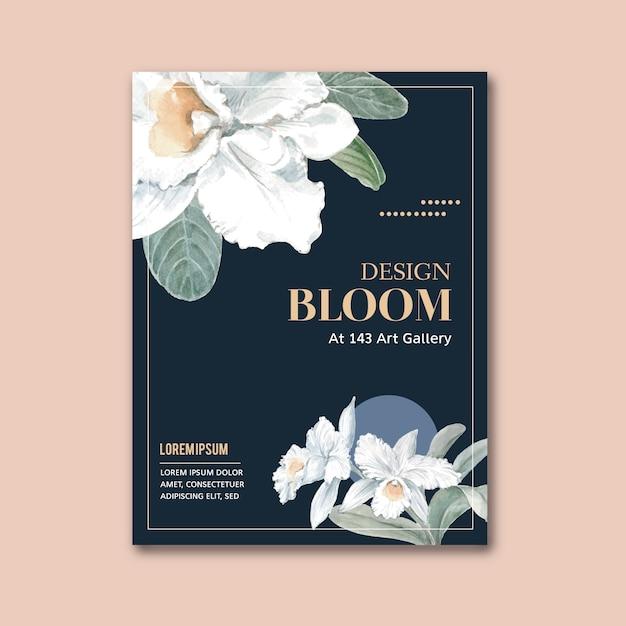 Affiche florale Vecteur gratuit