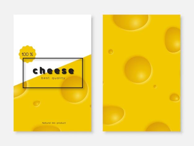 Affiche De Fromage, Conception De Menus. Vecteur Premium