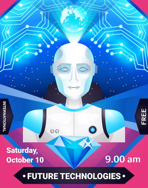 Affiche future technologies Vecteur gratuit
