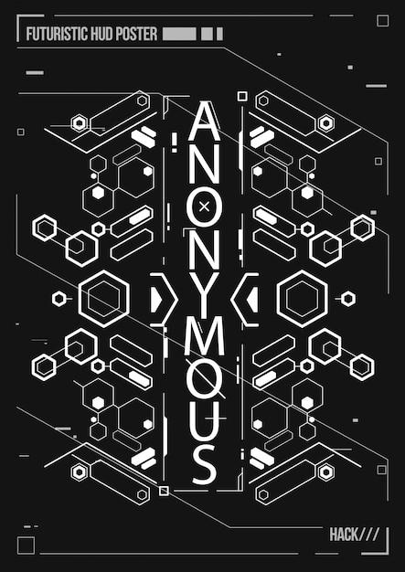 Affiche Futuriste De Cyberpunk. Modèle D'affiche Futuriste Rétro. Disposition De Musique électronique. Vecteur Premium