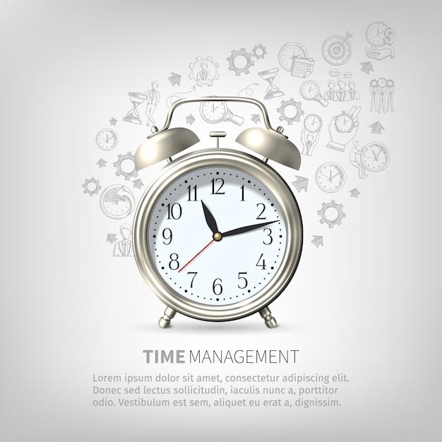 Affiche de gestion du temps Vecteur gratuit