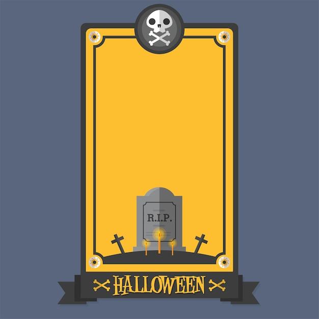 Affiche d'halloween Vecteur Premium