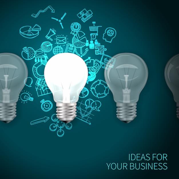 Affiche d'idées commerciales Vecteur gratuit