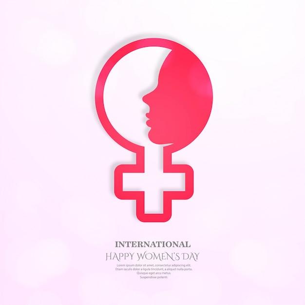 Affiche internationale de la journée des femmes. Vecteur gratuit