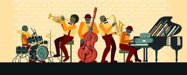 Affiche le jour du jazz le 30 avril Vecteur Premium