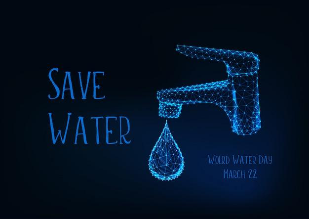Affiche de la journée mondiale de l'eau Vecteur Premium