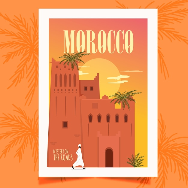 Affiche Maroc Vecteur gratuit