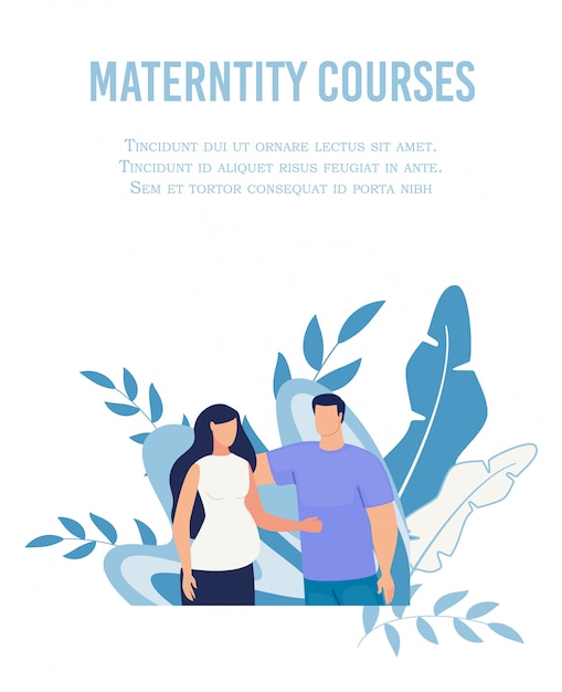 Affiche de maternité pour femmes Vecteur Premium