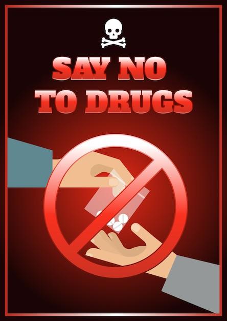 Affiche De Médicaments Plats Vecteur gratuit