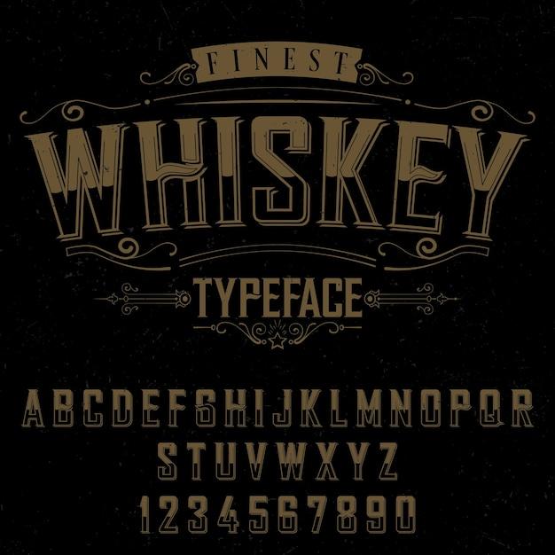 Affiche De La Meilleure Police De Whisky Vecteur gratuit