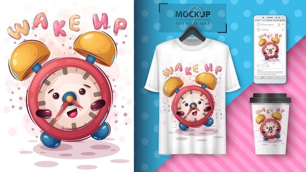 Affiche Et Merchandising D'horloge Allarm Mignon Vecteur gratuit