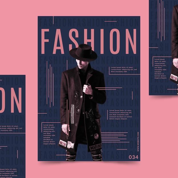 Affiche De Mode Créative Avec Photo Vecteur gratuit