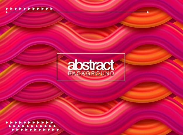 Affiche moderne de flux coloré. forme liquide wave sur fond de couleur bleue Vecteur Premium