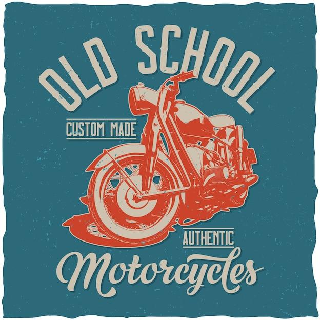 Affiche De Motos Old School Vecteur gratuit