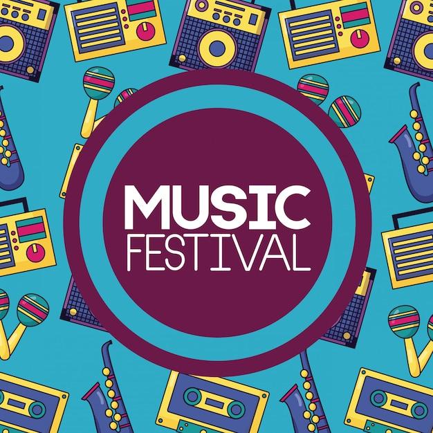 Affiche De Musique Du Festival Vecteur gratuit