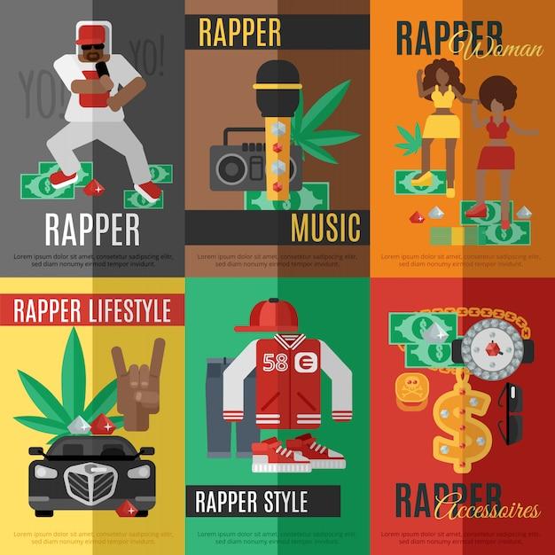 Affiche De Musique Rap Vecteur gratuit