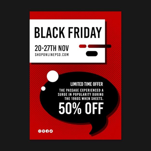 Affiche De L'offre à Durée Limitée Black Friday Vecteur gratuit