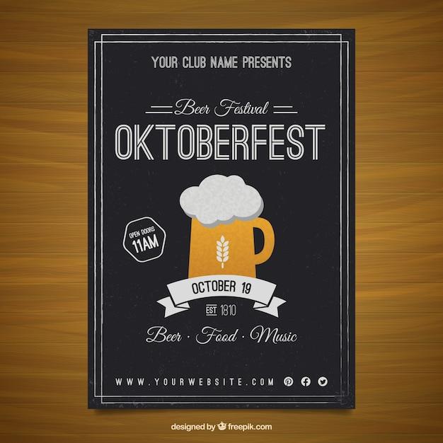 Affiche oktoberfest Vecteur gratuit