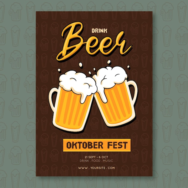 Affiche De L'oktoberfest Vecteur gratuit