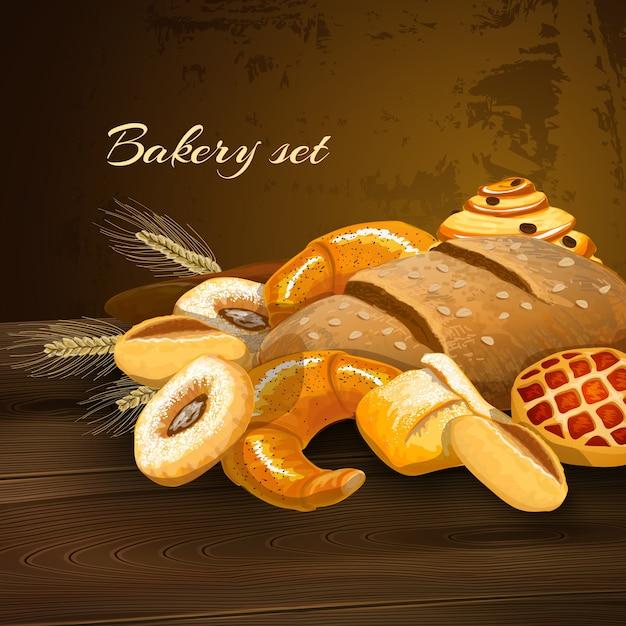 Affiche De Pain De Boulangerie Vecteur gratuit