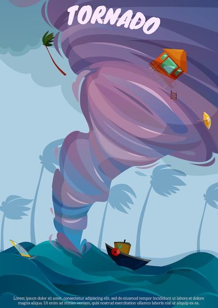 Affiche De Paysage De Bord De Mer Vecteur gratuit