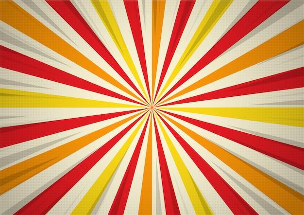 Affiche de performance de cirque rétro rayons de lumière Vecteur Premium