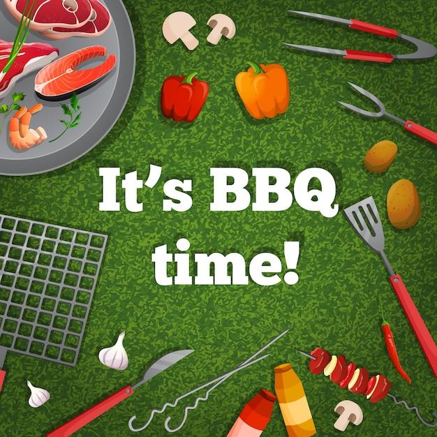 Affiche de pique-nique barbecue Vecteur gratuit
