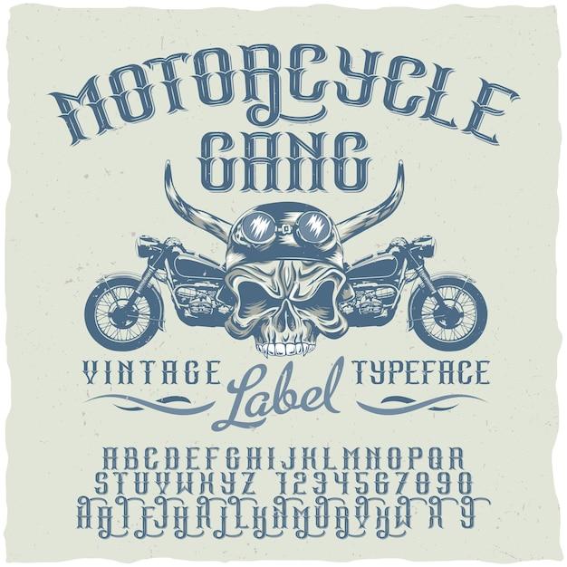 Affiche De Police De Groupe De Moto Vecteur gratuit