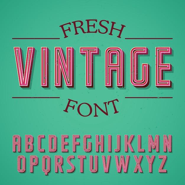 Affiche De Police Vintage Fraîche Vecteur Premium