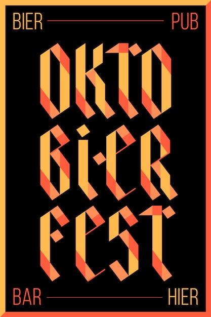 Affiche Pour Le Festival Oktoberfest Vecteur Premium