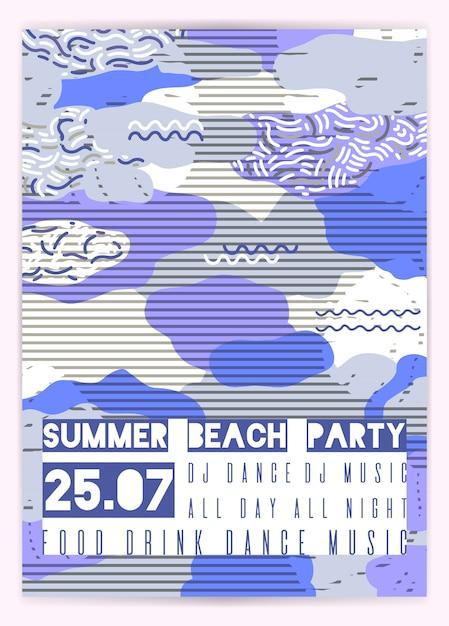 Affiche pour la fête d'été Vecteur Premium