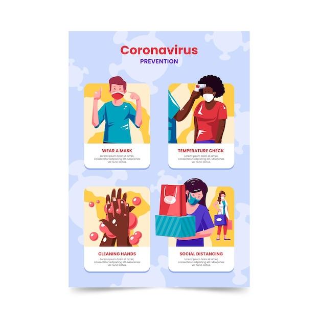 Affiche De Prévention Des Coronavirus Pour Les Magasins Vecteur gratuit