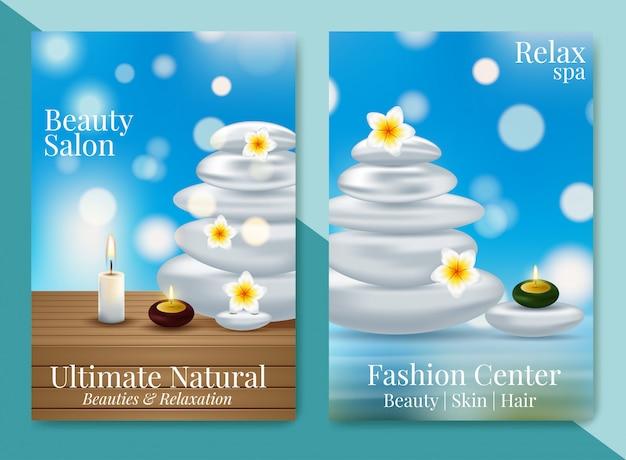 Affiche publicitaire de design pour produit cosmétique pour catalogue Vecteur Premium