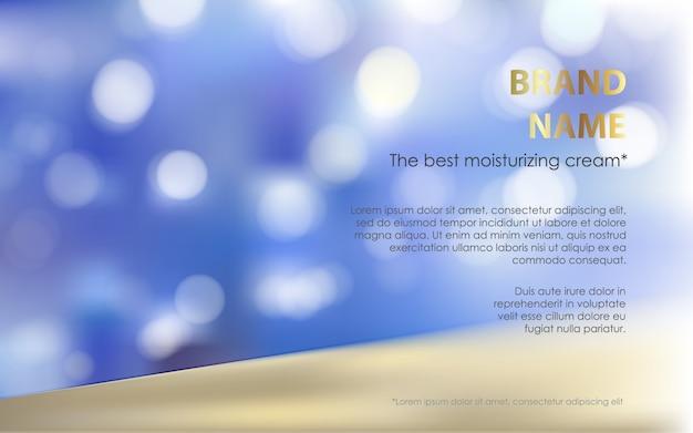 Affiche publicitaire d'un produit cosmétique hydratant Vecteur gratuit