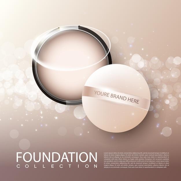 Affiche Publicitaire De Produits Cosmétiques Féminins De La Fondation Vecteur gratuit