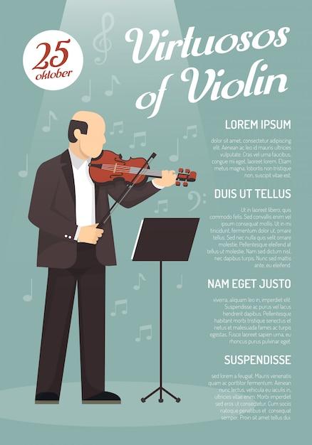 Affiche de publicité musicale Vecteur gratuit