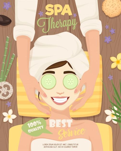 Affiche de routine de soins de la peau Vecteur gratuit
