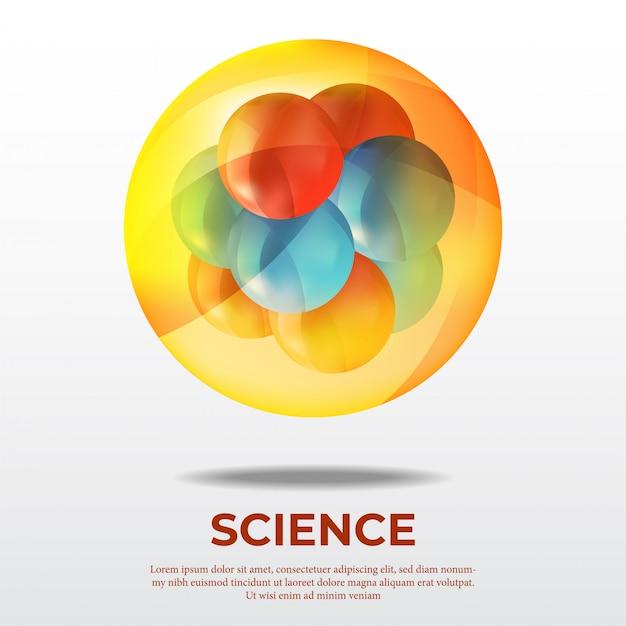Affiche scientifique sur la molécule atomique Vecteur Premium