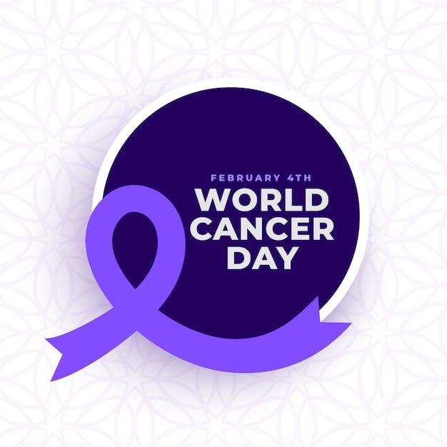 Affiche De Sensibilisation Pour La Journée Mondiale Contre Le Cancer Vecteur gratuit