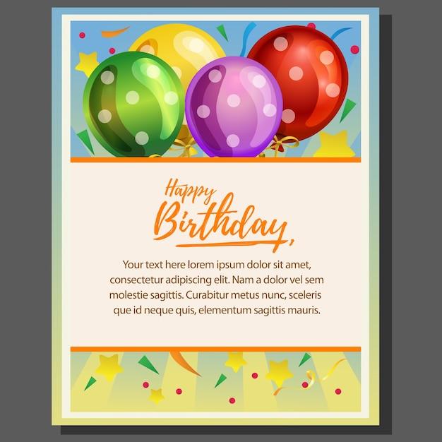 Affiche De Theme Joyeux Anniversaire Avec Ballon Telecharger Des