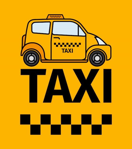 Affiche de transport en taxi de londres Vecteur Premium