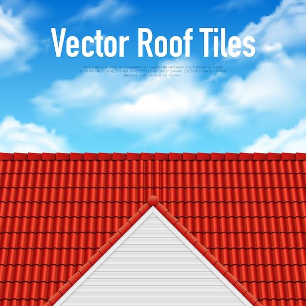 Affiche de tuile de toit de maison Vecteur gratuit