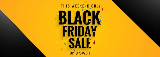 Affiche de vente du modèle de bannière vendredi noir Vecteur gratuit