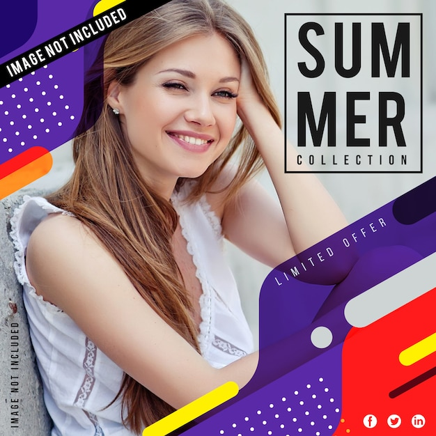 Affiche de vente de mode moderne Vecteur Premium