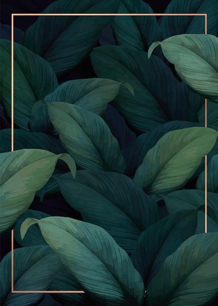Affiche de vibrations tropicales Vecteur gratuit
