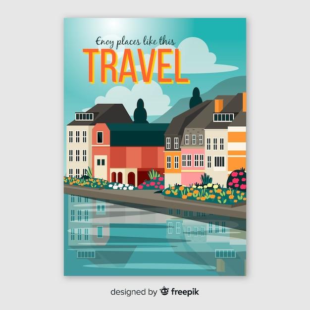 Affiche de voyage enjoy places Vecteur gratuit
