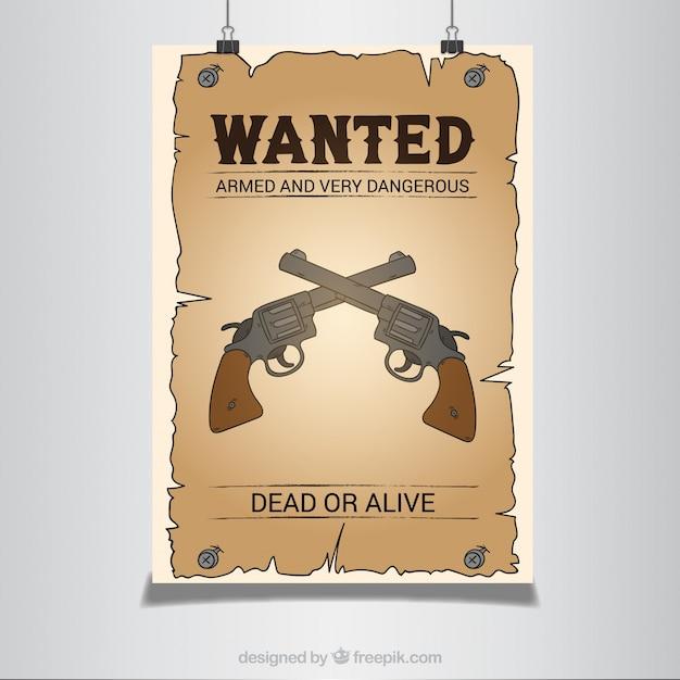 affiche western avec des pistolets
