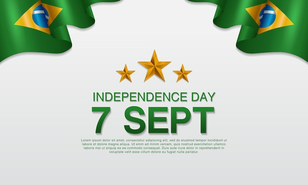 Affiches du jour de l'indépendance brésilienne Vecteur Premium
