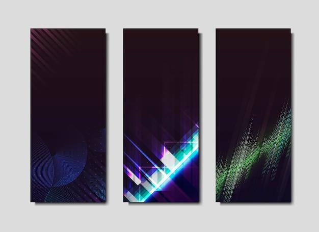 Affiches effet néon Vecteur gratuit
